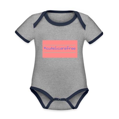 Cute & Carefree - Organic Baby Contrasting Bodysuit