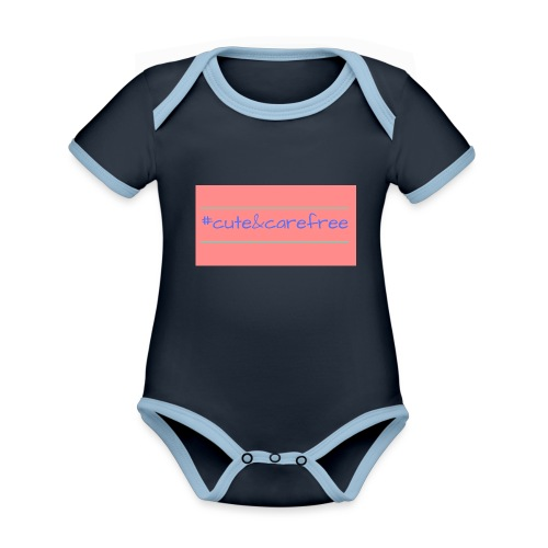 Cute & Carefree - Organic Baby Contrasting Bodysuit