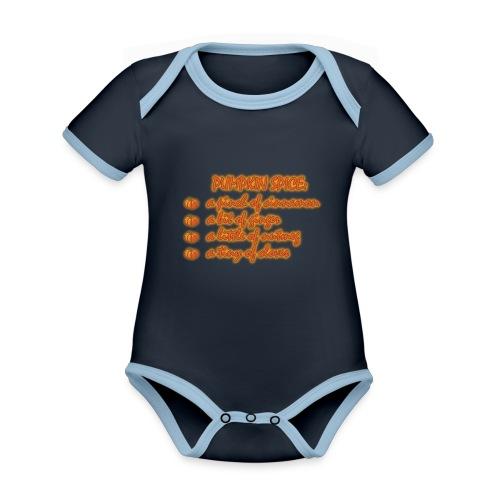 PumpkinSpiceRecipe - Body da neonato a manica corta, ecologico e in contrasto cromatico