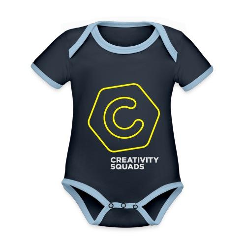 CreativitySquads 002 - Vauvan kontrastivärinen, lyhythihainen luomu-body