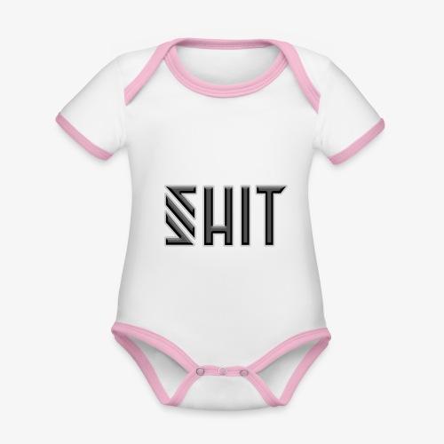 shit - Organic Baby Contrasting Bodysuit