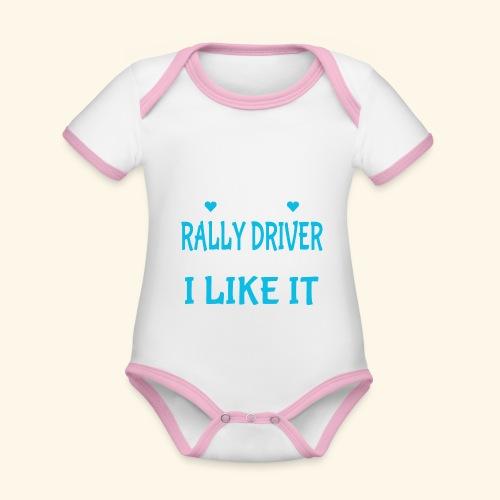 RALLY - Body da neonato a manica corta, ecologico e in contrasto cromatico
