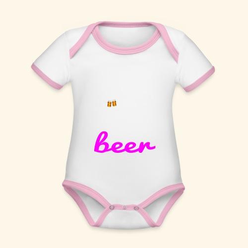 Birra Beer - Body da neonato a manica corta, ecologico e in contrasto cromatico