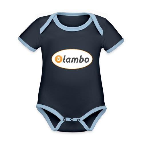 Lambo - option 1 - Organic Baby Contrasting Bodysuit