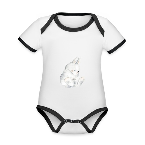 Bunny - Body Bébé bio contrasté manches courtes