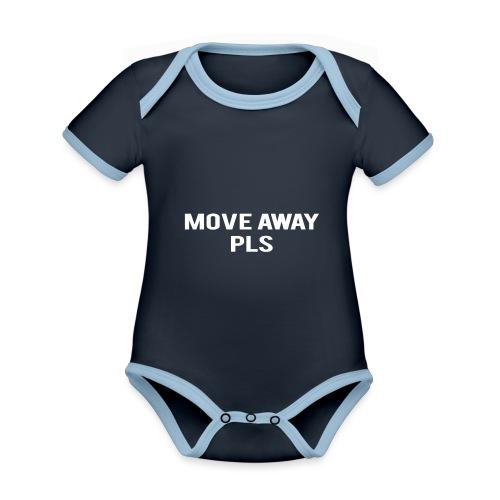 Move Away Please - Organic Baby Contrasting Bodysuit