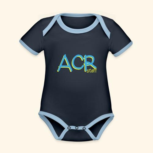 ACR - Body da neonato a manica corta, ecologico e in contrasto cromatico