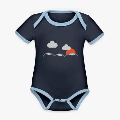 Berg & Moln - Ekologisk kontrastfärgad kortärmad babybody