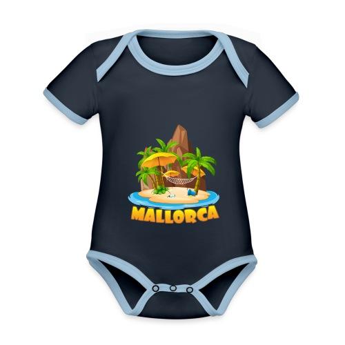 Mallorca - schau wie schön die Insel ist! - Baby Bio-Kurzarm-Kontrastbody