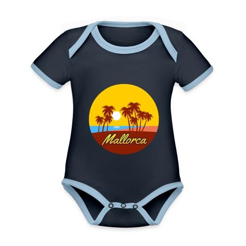 Mallorca - Als Geschenk oder Geschenkidee - Baby Bio-Kurzarm-Kontrastbody