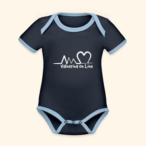Valnerina On line APS maglie, felpe e accessori - Body da neonato a manica corta, ecologico e in contrasto cromatico