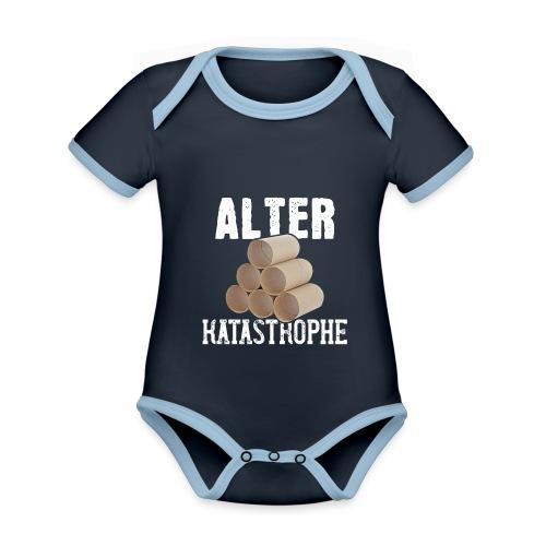 Alter Katastrophe Toilettenpapier | Spruch Lustig - Baby Bio-Kurzarm-Kontrastbody