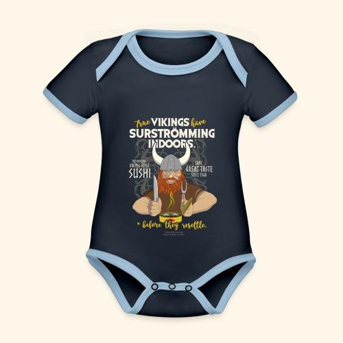 Surströmming Viking Sushi Indoors - Baby Bio-Kurzarm-Kontrastbody