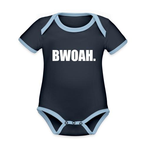 Bwoah - Vauvan kontrastivärinen, lyhythihainen luomu-body