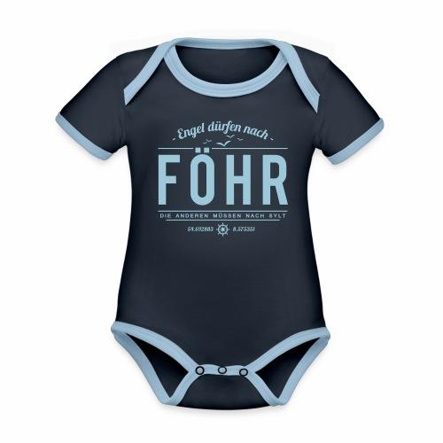 Engel dürfen nach Föhr, die anderen müssen nach... - Baby Bio-Kurzarm-Kontrastbody