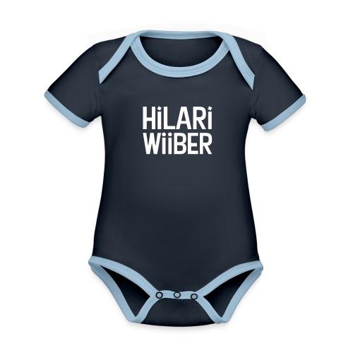 Hilari Wiiber - Be a HiWi - Baby Bio-Kurzarm-Kontrastbody