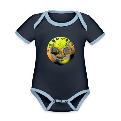 Rigormortiz Metallic Yellow Orange Design - Organic Baby Contrasting Bodysuit