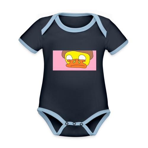 Namnl--s - Ekologisk kontrastfärgad kortärmad babybody