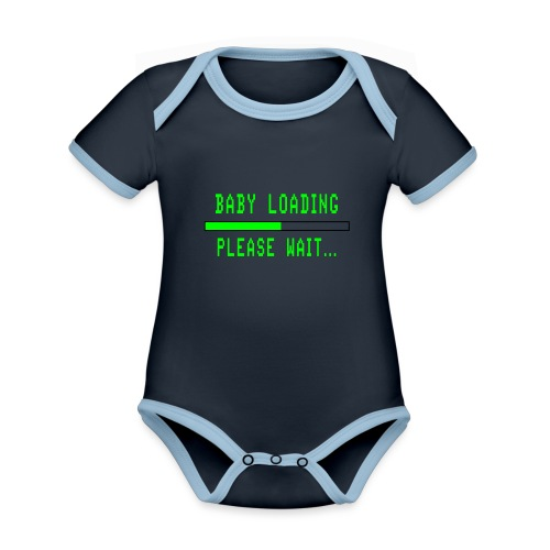 Baby Loading - Vauvan kontrastivärinen, lyhythihainen luomu-body