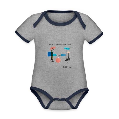 Azia Drum - Organic Baby Contrasting Bodysuit