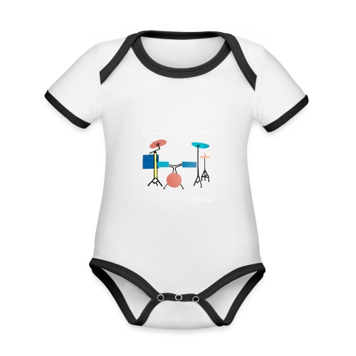 Azia Drum White - Organic Baby Contrasting Bodysuit