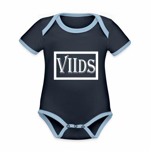 Viids logo - Ekologiczne body niemowlęce z krótkim rękawem i kontrastowymi lamówkami