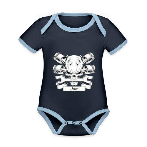 JDM dood - Baby contrasterend bio-rompertje met korte mouwen