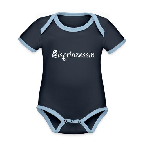 Eisprinzessin, Ski Shirt, T-Shirt für Apres Ski - Baby Bio-Kurzarm-Kontrastbody