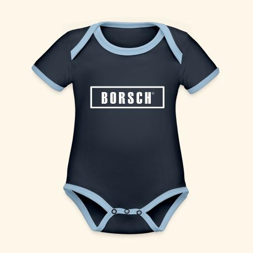 Borsch - Kortærmet økologisk babybody i kontrastfarver