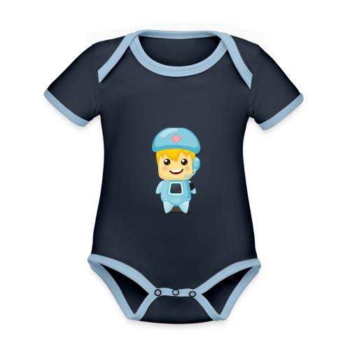 robot medico - Body contraste para bebé de tejido orgánico