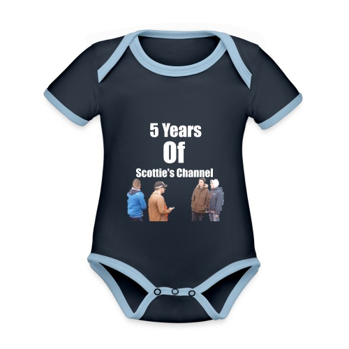 5 Years Of Scottie's Channel - Organic Baby Contrasting Bodysuit