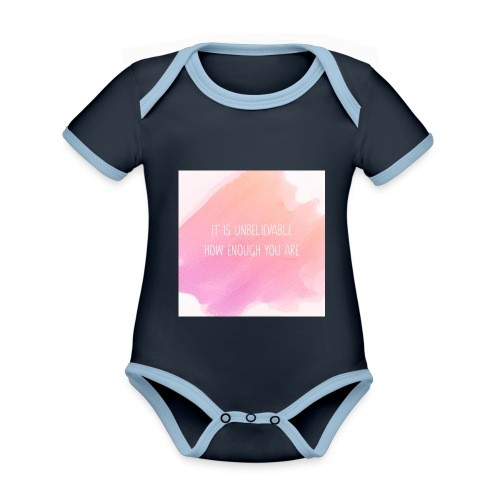 The Perfect Gift - Organic Baby Contrasting Bodysuit