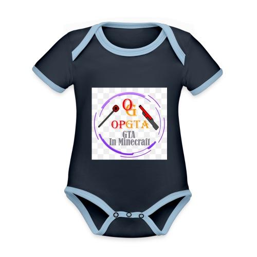 opgta logo - Vauvan kontrastivärinen, lyhythihainen luomu-body