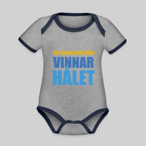 jag slank loss fran vinnarhalet - Ekologisk kontrastfärgad kortärmad babybody