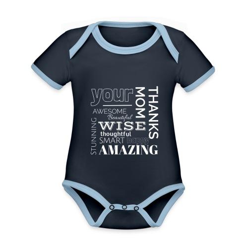 Amazing clothes - Body contraste para bebé de tejido orgánico