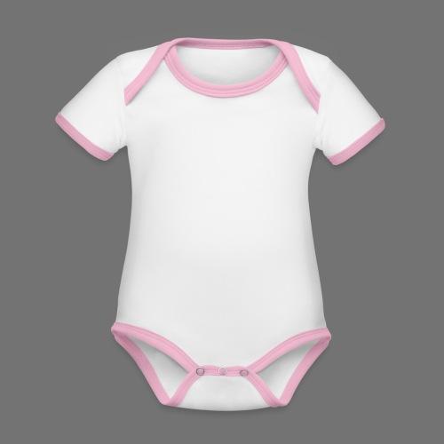 160 BPM (valkoinen pitkä) - Vauvan kontrastivärinen, lyhythihainen luomu-body