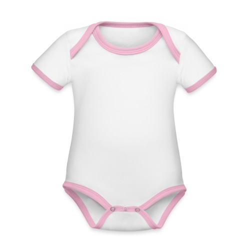 APRÈS SKI RESCUE TEAM 2 - Baby contrasterend bio-rompertje met korte mouwen