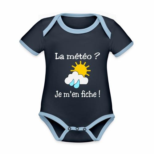 La météo - je m'en fiche ! - Organic Baby Contrasting Bodysuit