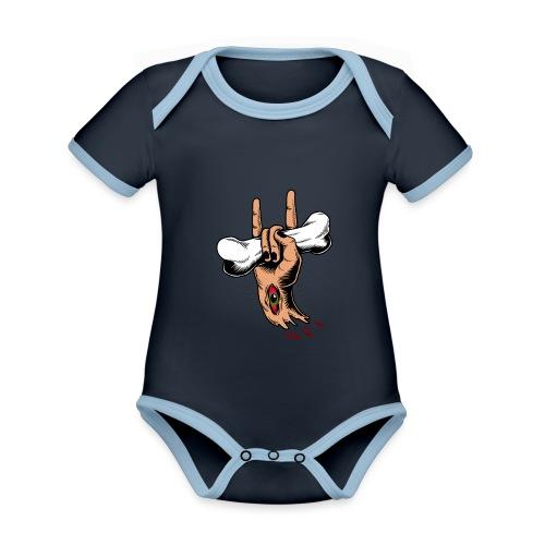 Rock Zombie - Body contraste para bebé de tejido orgánico