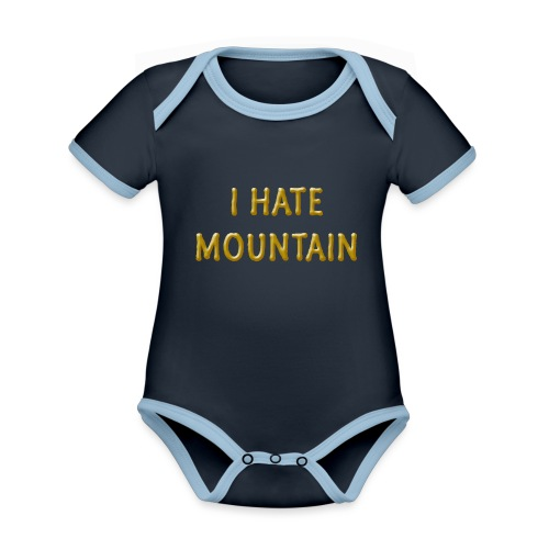 hate mountain - Baby Bio-Kurzarm-Kontrastbody
