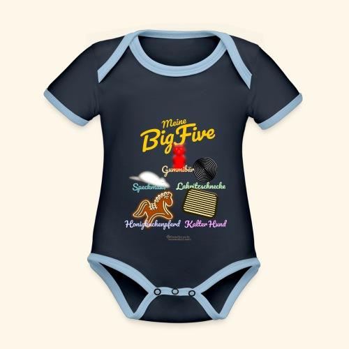 Geek T-Shirt Big Five - Baby Bio-Kurzarm-Kontrastbody