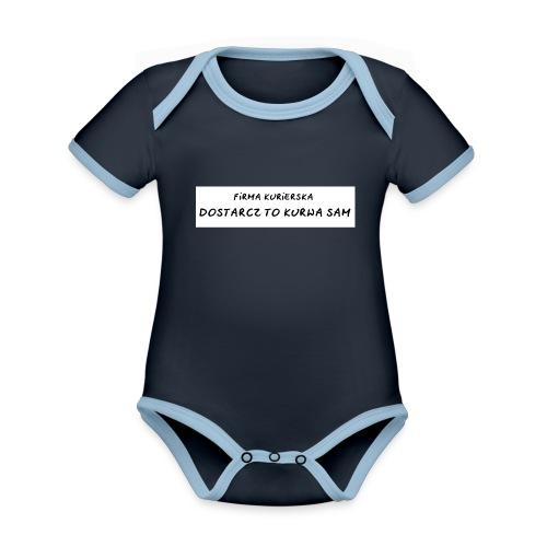 firma kurierska tyl - Ekologiczne body niemowlęce z krótkim rękawem i kontrastowymi lamówkami