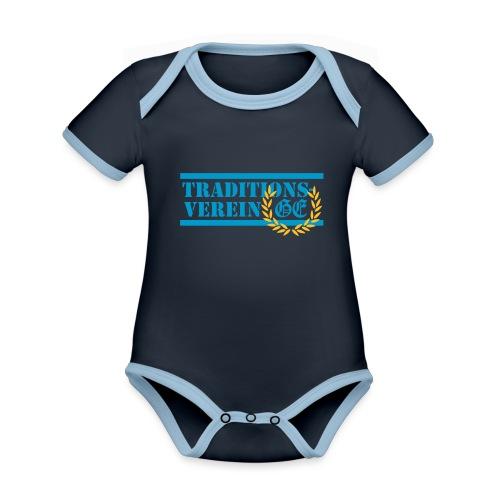 Traditionsverein - Baby Bio-Kurzarm-Kontrastbody