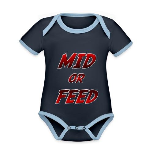 Mid or feed - Body da neonato a manica corta, ecologico e in contrasto cromatico