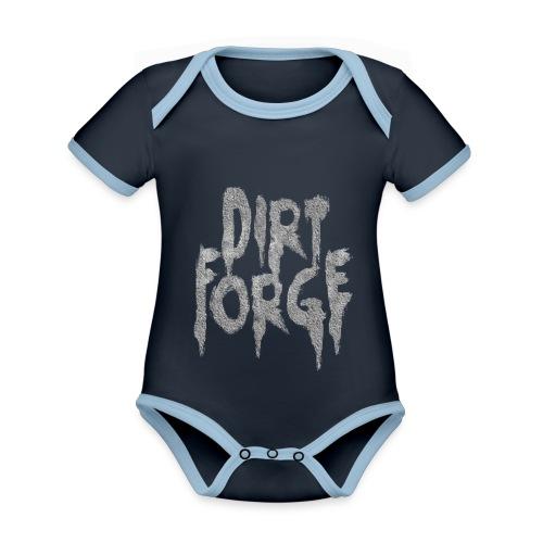 Dirt Forge Gravel t-shirt - Kortærmet økologisk babybody i kontrastfarver