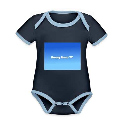 Honey Bears TV Merch - Organic Baby Contrasting Bodysuit
