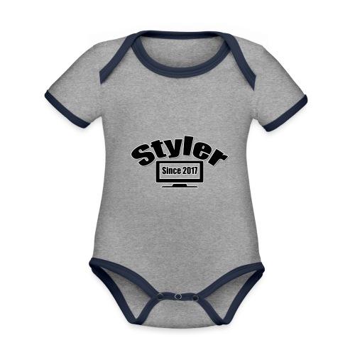 Styler Designer - Baby contrasterend bio-rompertje met korte mouwen