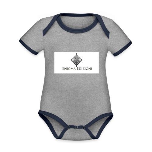 enigma - Body da neonato a manica corta, ecologico e in contrasto cromatico