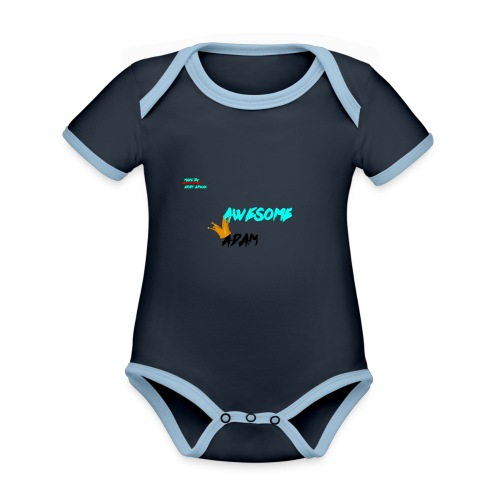 king awesome - Organic Baby Contrasting Bodysuit