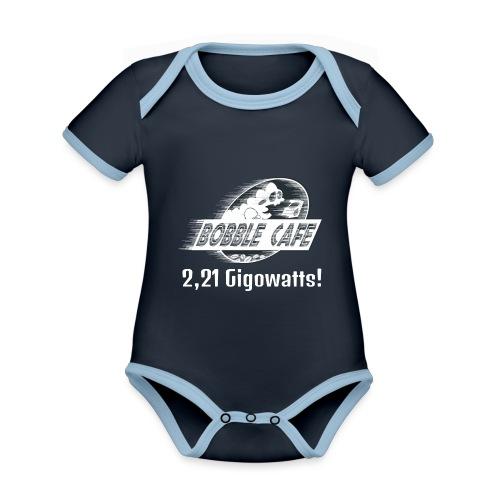 retour vers le futur - Body Bébé bio contrasté manches courtes